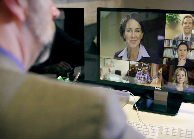 Corporate tube features full integration with social networks video conferencing