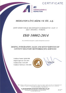 ISO 10002:2014 certificate